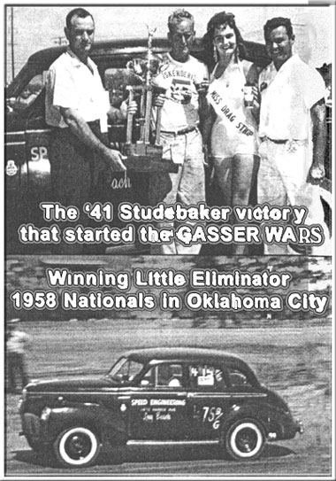 JR. THOMPSON's 1958 WIN of the NHRA NATIONALS